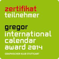 Zertifikat über die Teilnahme am international calender award 2014