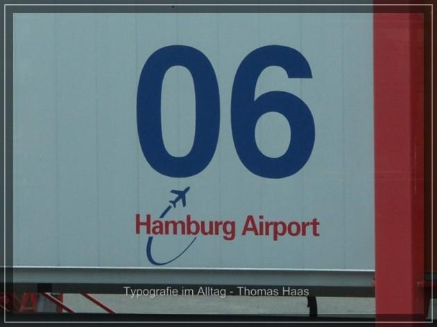 Typographie Hamburg Airport