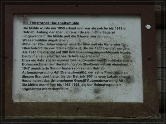 Mühlengeschichte auf alter Tafel