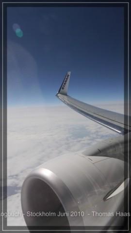 Triebwerk und Flügel  Über den Wolken...