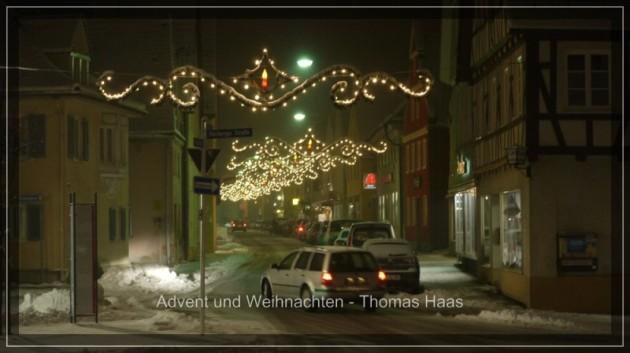 Weihnachtsbeleuchtung in Weißenhorn
