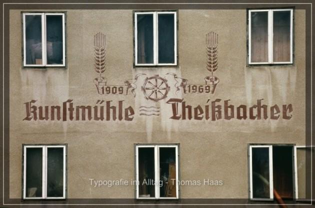Typografie Theissbachers Mühle 1969