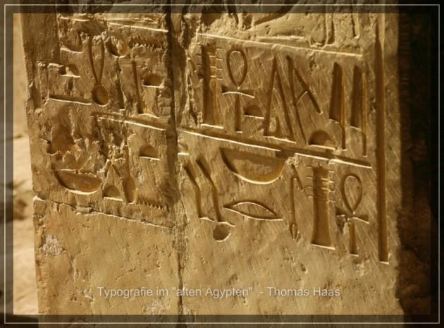 Typografie Tempel Hatschepsut