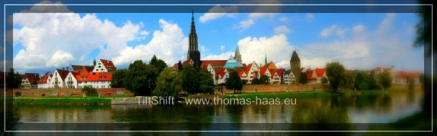 Ausschnitt aus dem Ulmer Panorama in TiltShift Bearbeitung