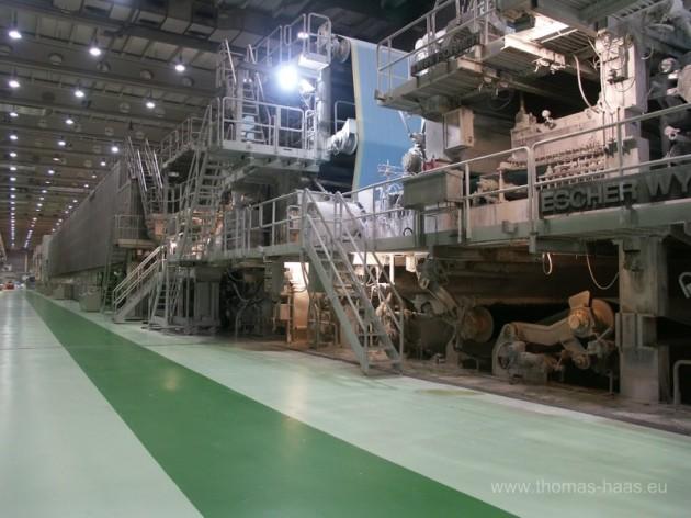 Sieb- und Trockenpartie einer Papiermaschine