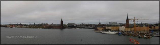 Kungsholmen und Riddarholmen vom Montelius Vägen
