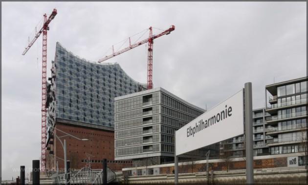 Baustelle der Elbphilharmonie, März 2012