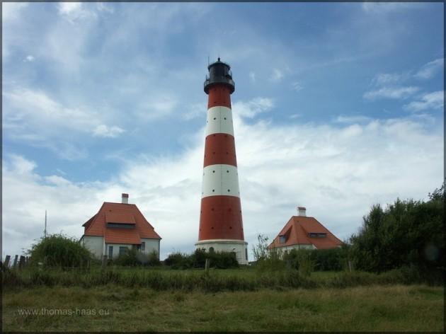 Leuchtturm Westerhever Sand, Nordsee