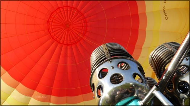 Ballonhülle und Brenner