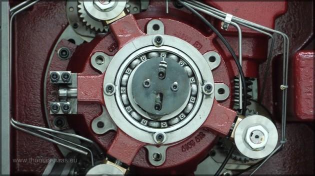 Detail einer Antriebseinheit, Druckmaschine