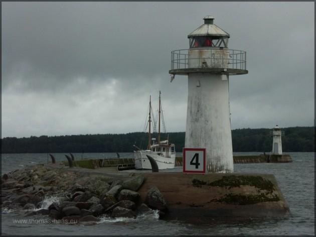Hjo, Leuchttürme Norra und Södra