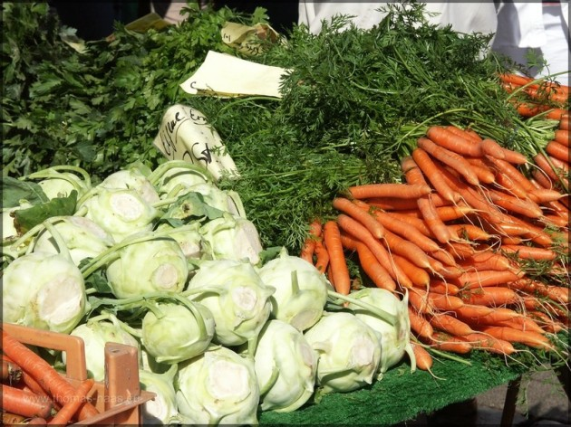 Gemüse auf dem Markt in Heide, 2005