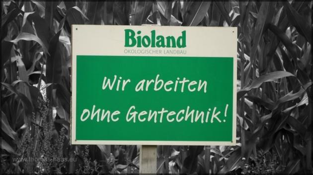 Bioland-Schild