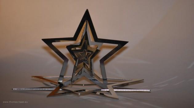 Weihnachtsstern aus Metall - Tabletop im Heimstudio