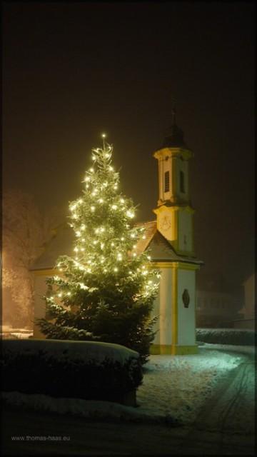 Kapelle in Senen an der Iller im Schnee - Weihnachten...