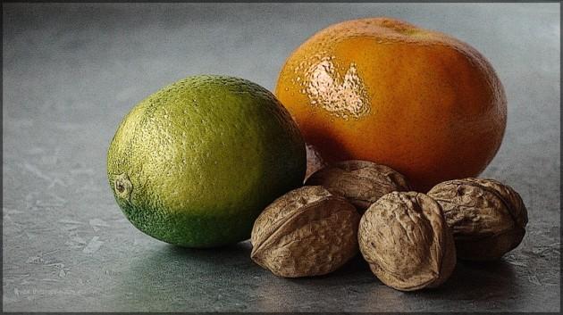 Limette, Mandarine, Nuesse