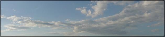 Wolkenpanorama aus dem Ballon, Mai 2012