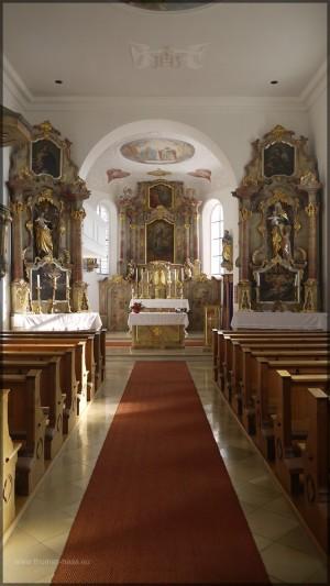 Längsache der Kirche St. Peter und Paul, Bellenberg