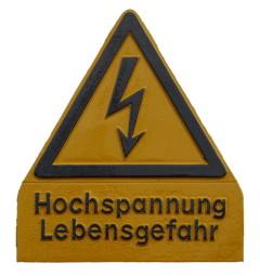 """Warnschild """"Hochspannung"""""""