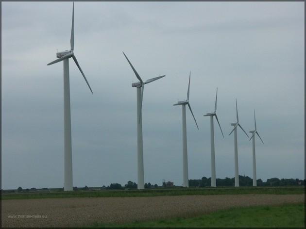 Windpark in Norddeutschland, 2005