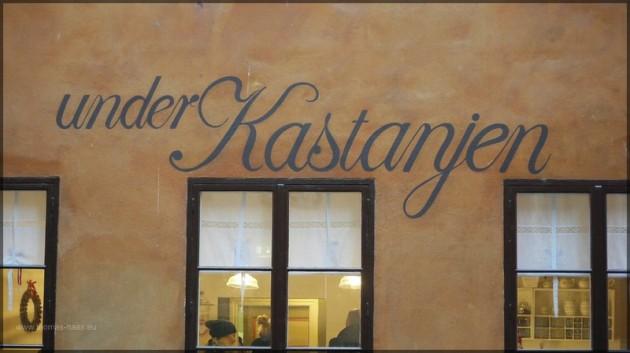 """Unter Kastanien"" in Stockholm, Dezember 2011"