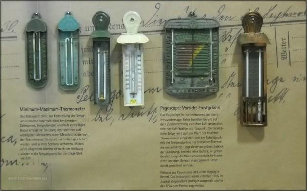 Alte Thermometer und Pagoscope