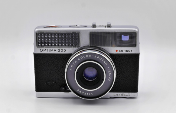 Agfa OPTIMA 200 sensor in Bereitschaftstasche, Modell 1968