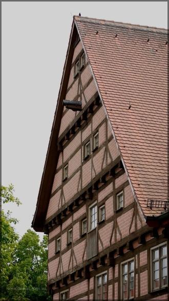 Fassade, giebel der Klostermuehle, MAi 2013