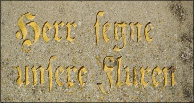 """Der Herr segne unsere Fluren"" - Feldkreuz, Juli 2013"