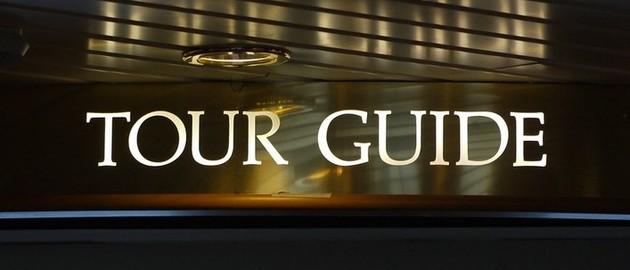 Ansprechpartner auf der Reise: Der Tour Guide...