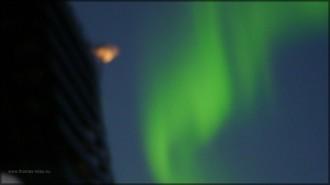 Polarlicht, gruen