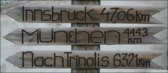 Kirkenes, Wegweiser Deutschland und Austria