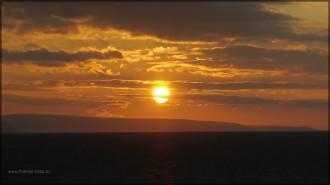 Sonnenuntergang üer dem Nordmeer