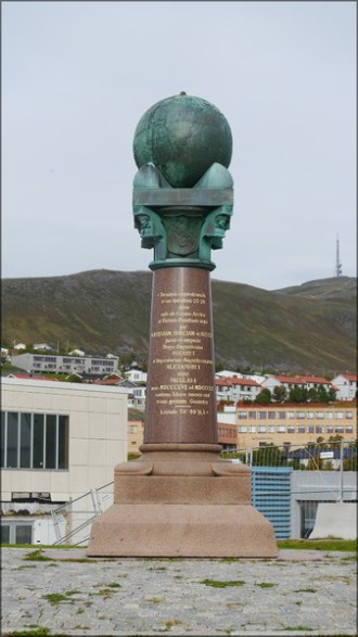 Hammerfest, Meridiansäule, Struve Meridianbogen