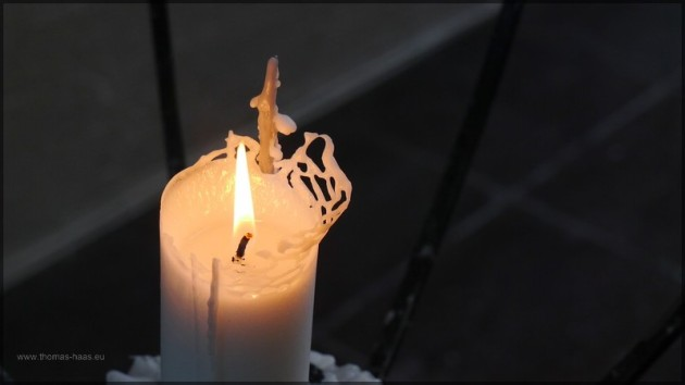 Kerze in der Eismeerkathedrale
