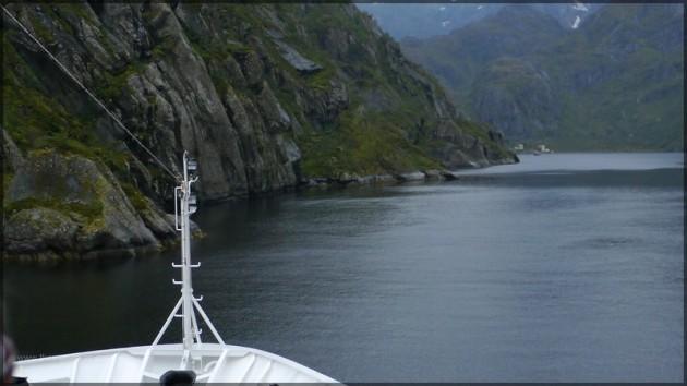 Schiffbug im Trollfjord