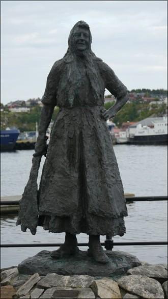 Die Klippfisch-Frau