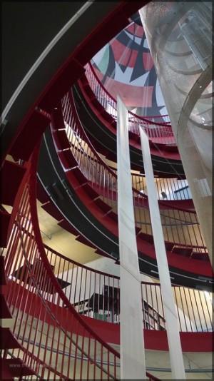 Blick in das Treppenhaus, Januar 2014