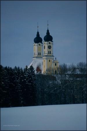 Roggenburg im Schnee, Scan vom Dia, 2013