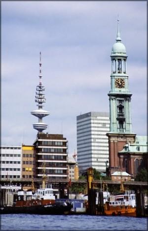 Hamburg 1981, Michel und Fernsehturm, Scan 2014