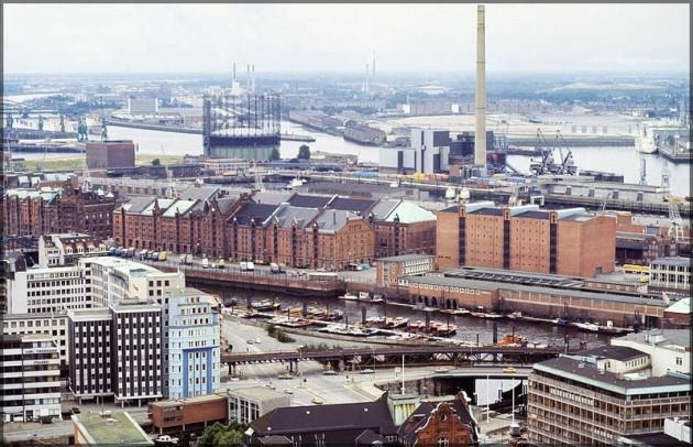 Hamburg vom Michel, 1981, Richtung Baumwall, Scan 2014