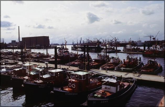 Blick auf Kaispeicher A, heute Elbphilharmonie, 1981