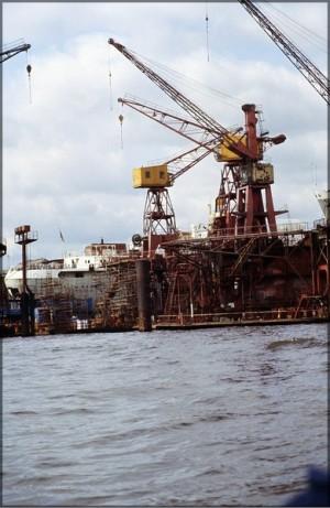 Werft im Hafen, 1981
