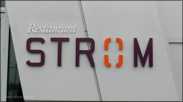 """Logo """"Restaurant STROM"""", Havenwelten Bremerhaven, 2014"""