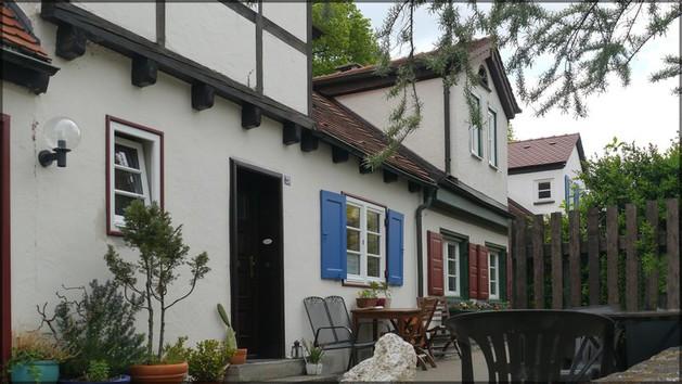 Häuser im Fraunegraben, Ulm, April 2014