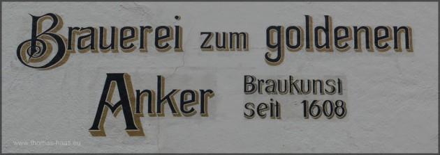 Zum goldenen Anker, Brauerei, Nördlingen, Juni 2014
