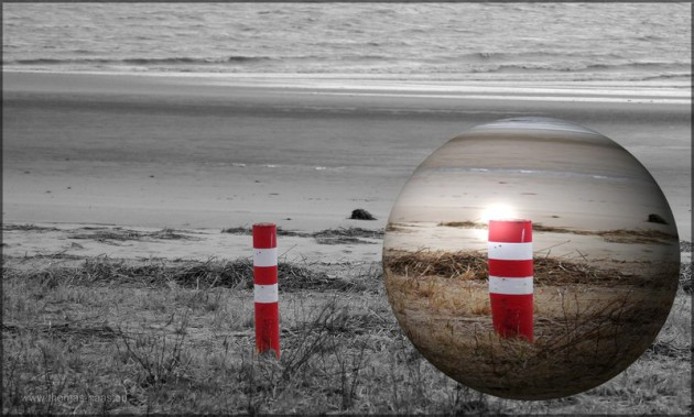 Bildbearbeitung color-key und Kugel, Juli 2014, GIMP