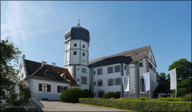 Vöhlinschloss Illertissen, Schloß und Innenhof, Juli 2014