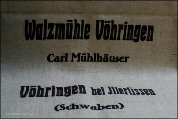 Alter Mehlsack, Walzmühle Vöhringen, Foto August 2014