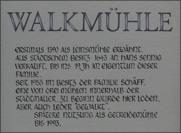 Historie der Walkmühle Nördlingen